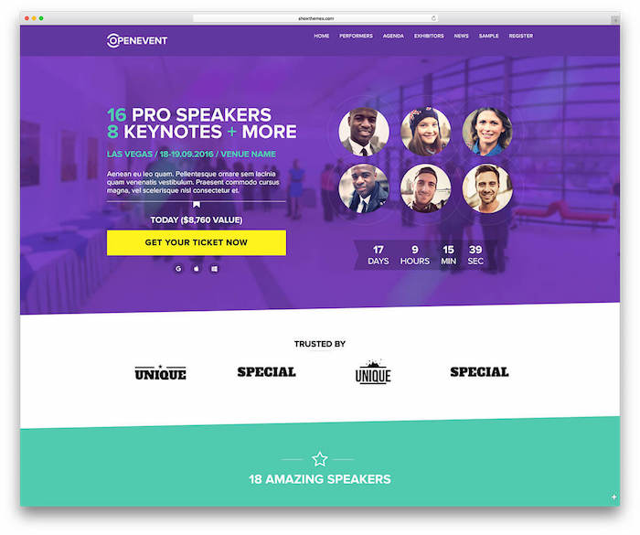 Event management software - Wordpress