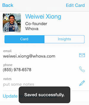 save whova contacts to phone contacts