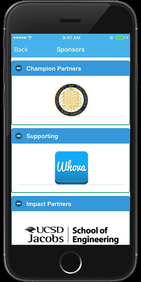 Twitter screenshot Whova app