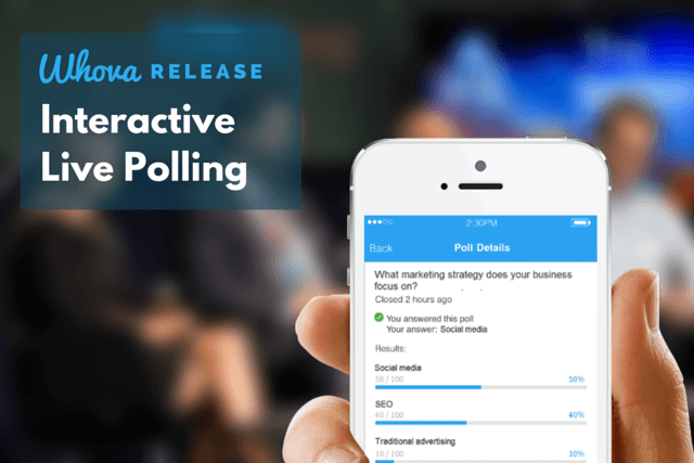 5 Reasons to Create Live Polling in Your Event App