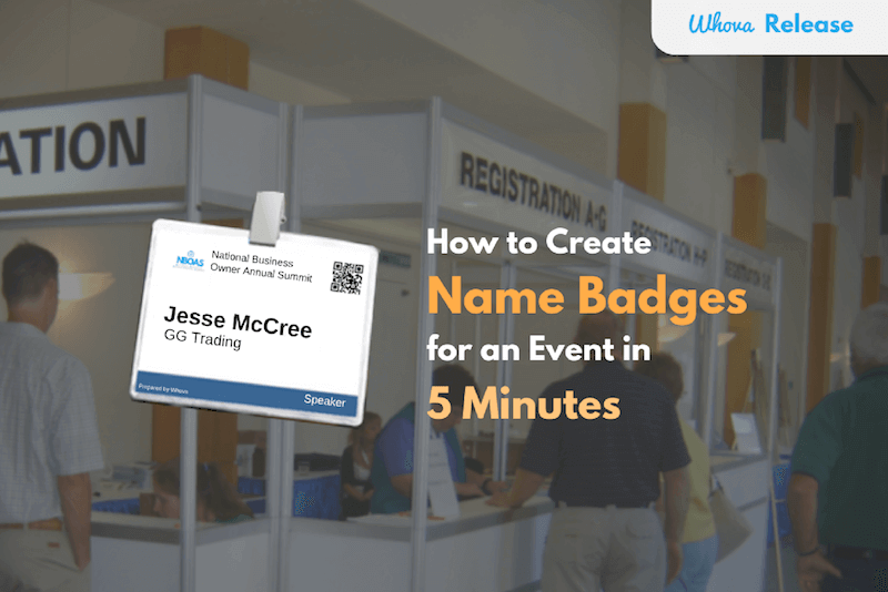 How To Create Name Badges For An Event In Minutes - Name badge printer