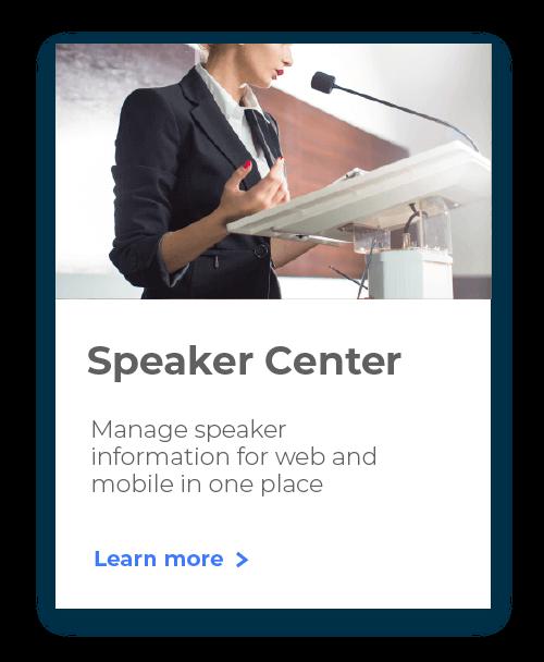 Event Speaker Center