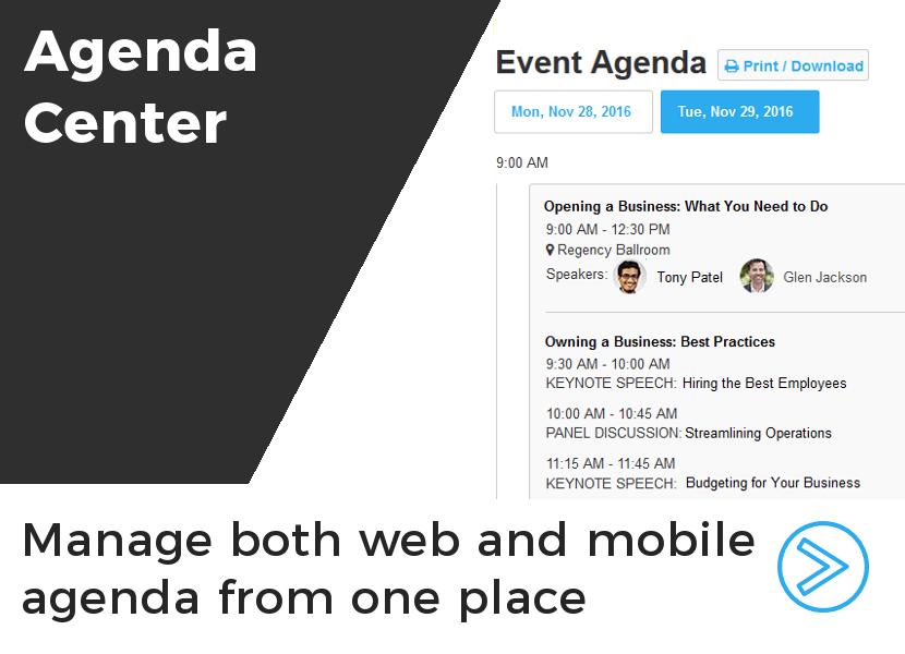 Event Agenda Manager