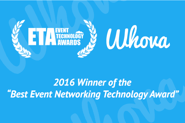Whova Wins 2016 Best Event Networking Technology Award