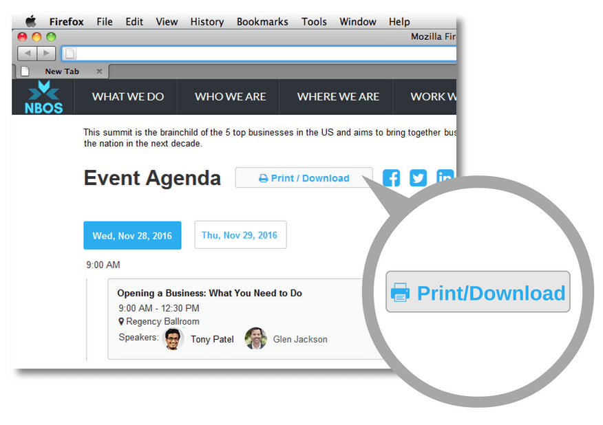 Event Agenda Flyer