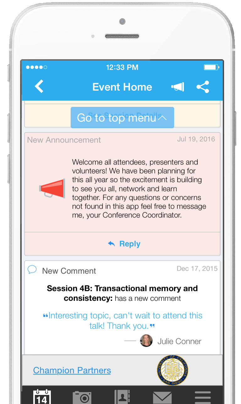 Whova Conference App Announcement Attendee Engagement