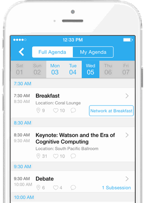 Whova Conference App - Agenda Mobile Brochure