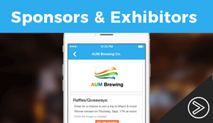 Event App for Highlighting Sponsors and Exhibitors