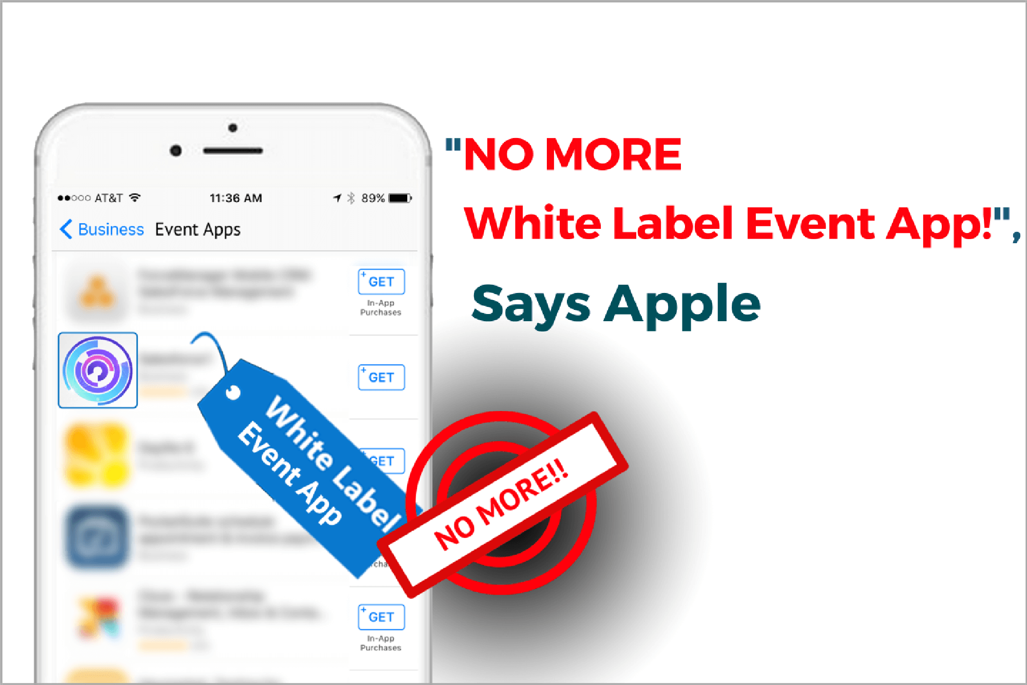 """No More White Label Event Apps!"", Says Apple"