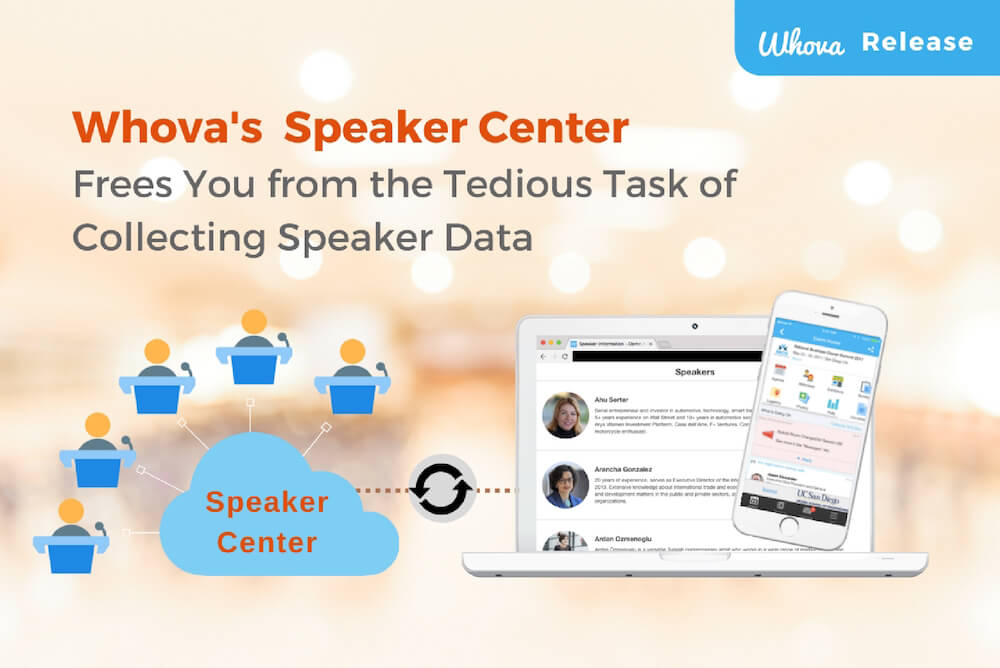 Tired of Emailing Back and Forth to Collect Speaker Data? Whova's