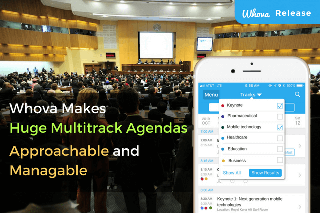 Whova Makes Huge Multitrack Agendas Approachable and Manageable