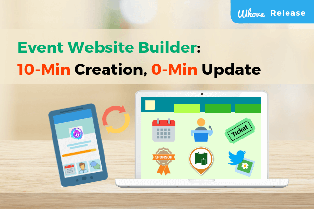 Event website builder: 10-minutes for creation, 0-minute for web updates