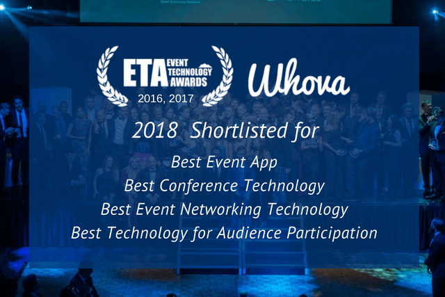 Whova Named Finalist for 4 Event Technology Awards in 2018