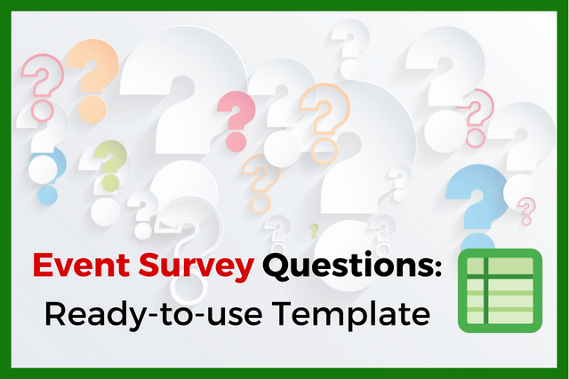 event survey questions in a ready to use template