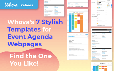 Whova's 7 Stylish Templates for Event Agenda Webpages – Find the One You Like!