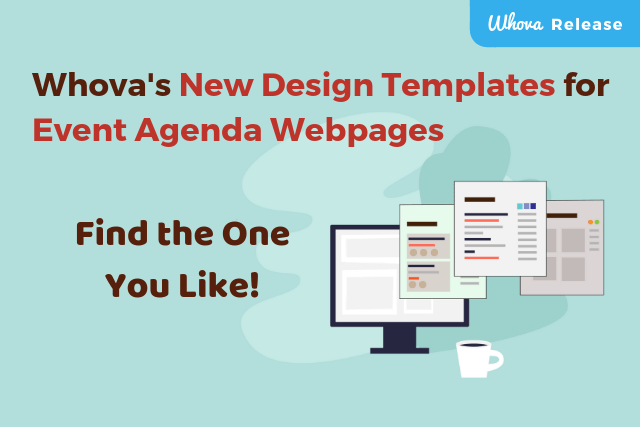 Whova's New Design Templates for Event Agenda Webpages – Find the One You Like!