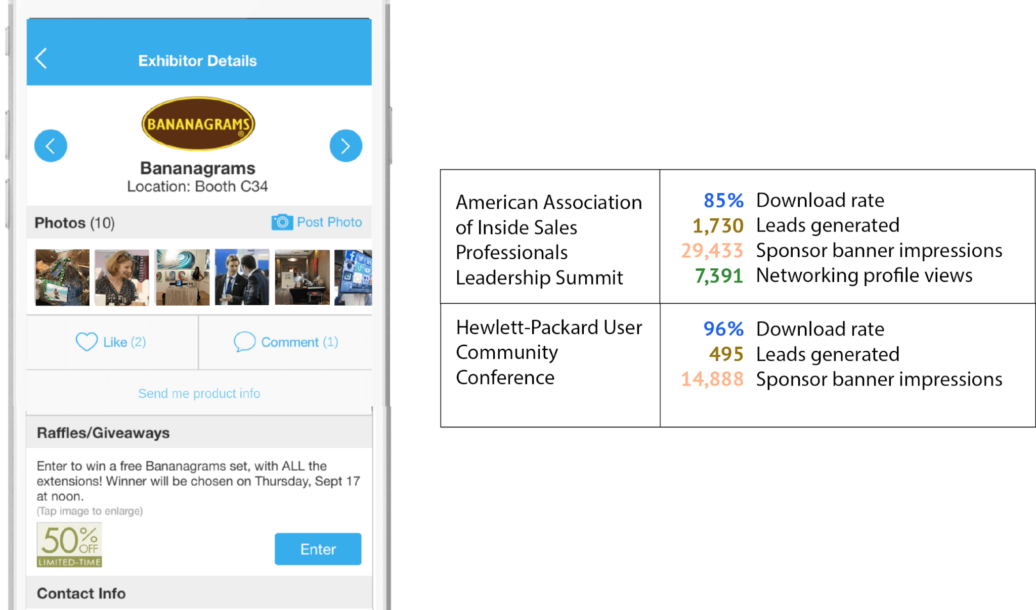 Event app for associations