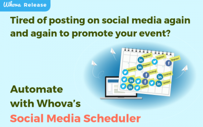 Tired of posting on social media again and again to promote your event? Automate with Whova's Social Media Scheduler