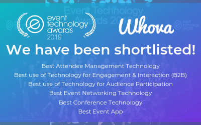 Whova Has Been Shortlisted for 6 Event Technology Awards in 2019!