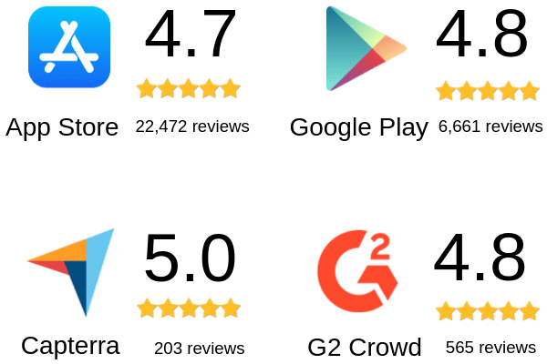 Best Event App - Rated on App Store, Google Play, Capterra and G2Crowd