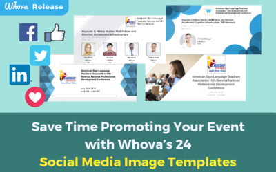 Save Time Promoting Your Event with Whova's 24 Social Media Image Templates