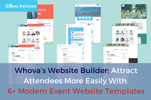 Whova's Website Builder: Attract Attendees More Easily With 6+ Modern Event Website Templates