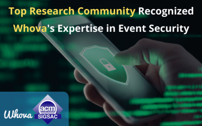 Top Research Community Recognized Whova's Expertise in Event Security