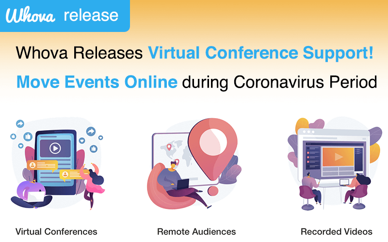 Whova Releases Virtual Conference Support – Move Events Online during Coronavirus Outbreak