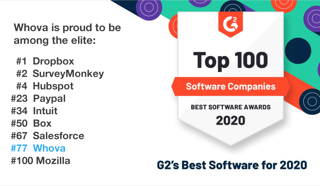 Whova Made it into the Global Top 100 for 2020!