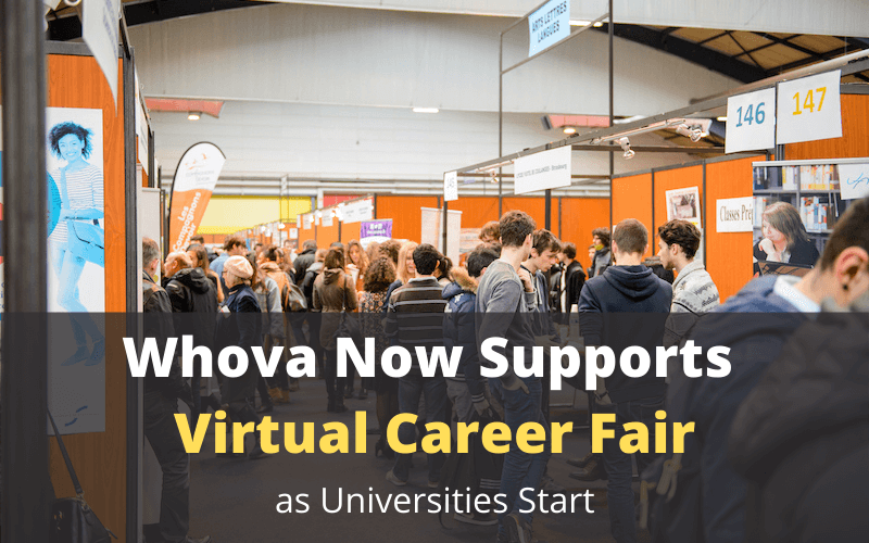 Whova Now Supports Virtual Career Fair As Universities Start
