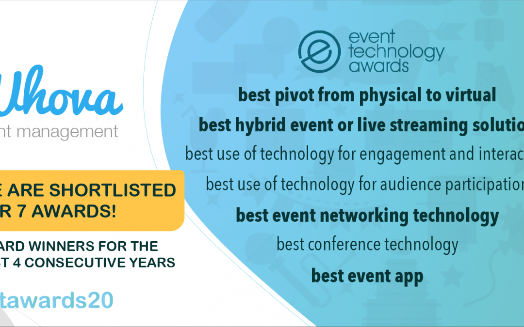 Whova Has Been Shortlisted for 7 Event Technology Awards in 2020!