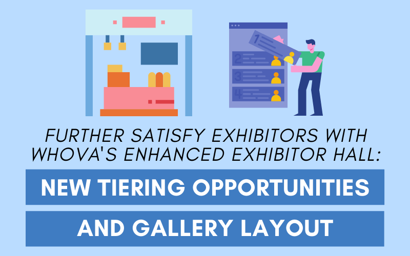 Further Satisfy Exhibitors with Whova's Enhanced Exhibitor Hall: New Tiering Opportunities and Gallery Layout