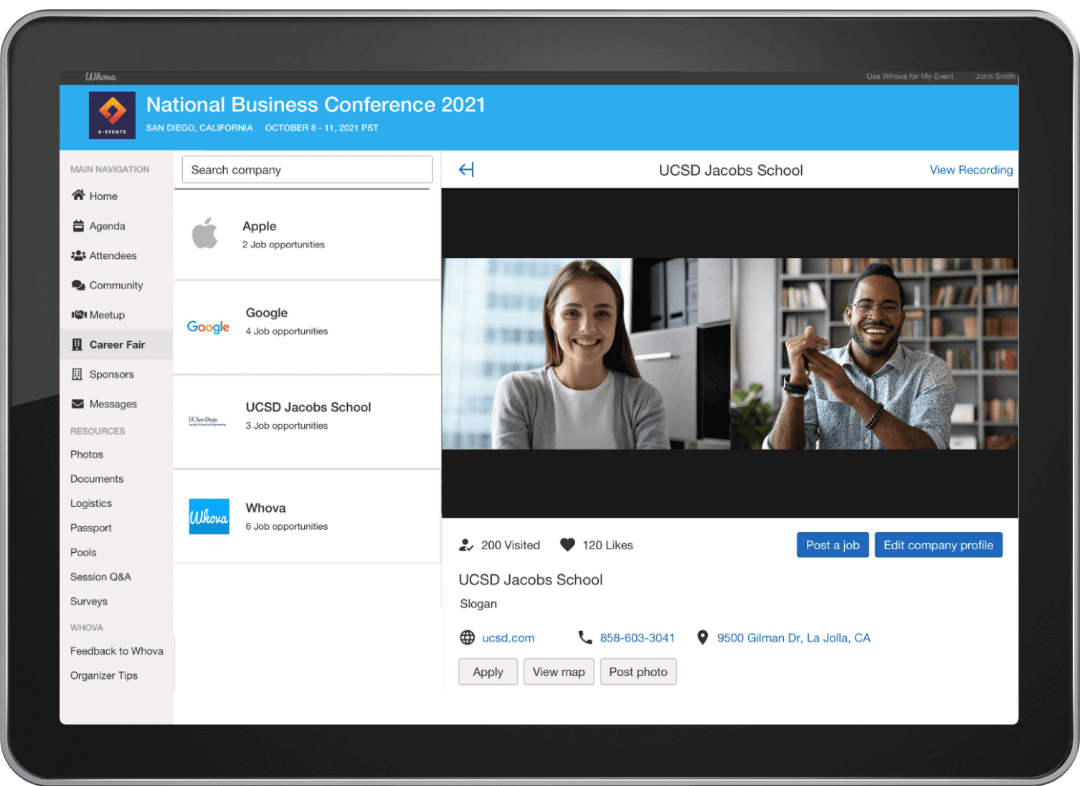 Recruiting the right applicant is even more efficient with ability to conduct in-app video interviews