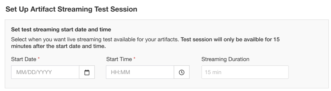 Create test sessions to allow presenters to practice ahead of time