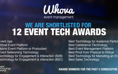 """Whova Recognized for 12 Out of 12 Event Tech """"Oscars"""""""