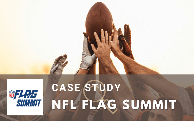 Virtual networking conference case study for the NFL FLAG Summit